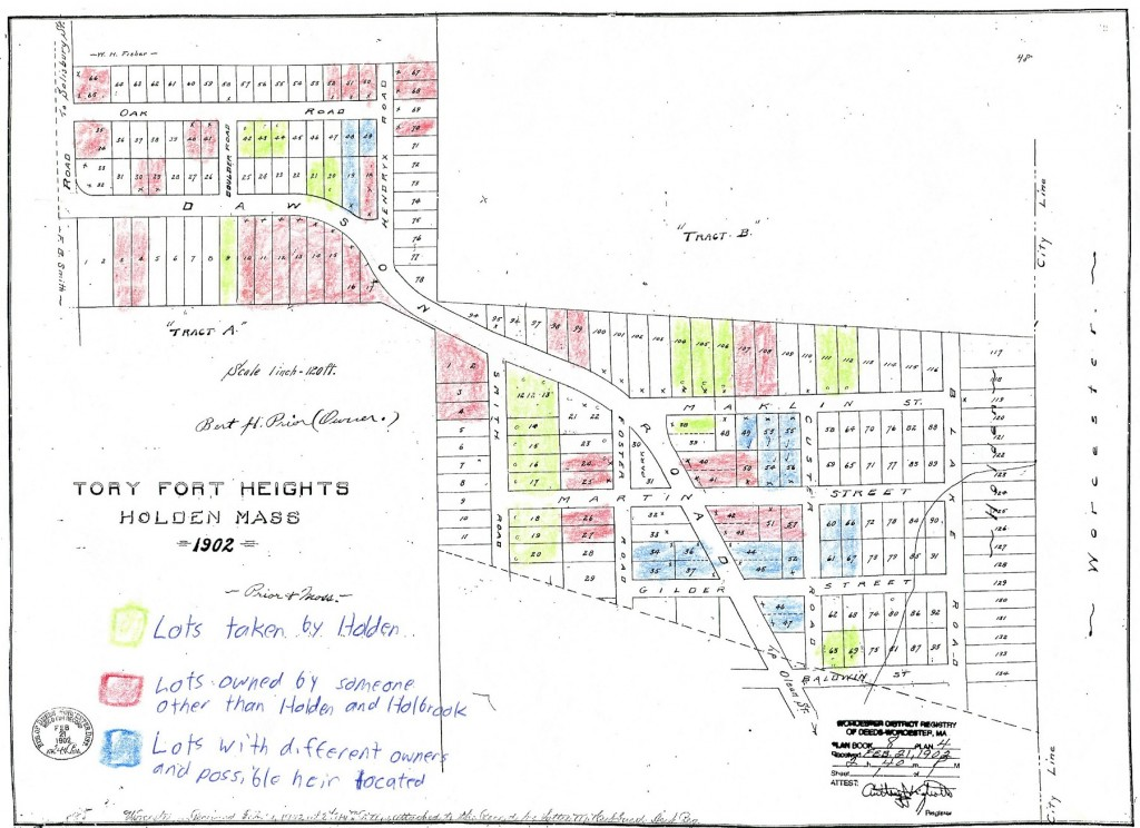 Tory Fort Heights 1902 Plan